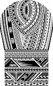 Maori style tattoo for bicep shoulder and sleeve area