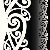 Maori tattoo pattern