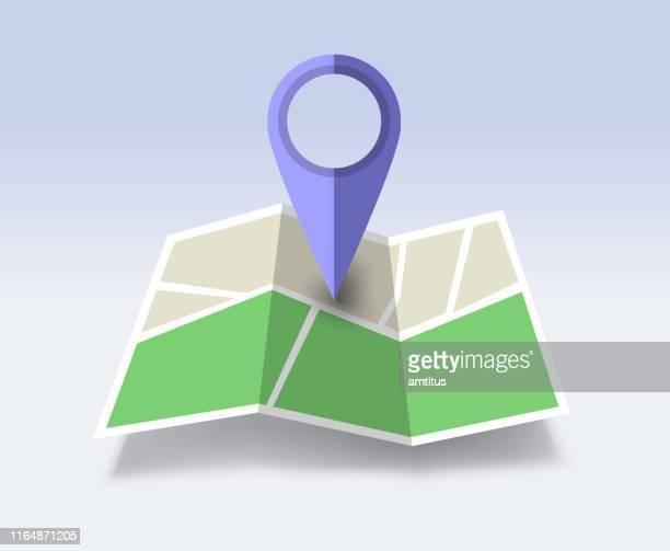 karte 3d - sehenswürdigkeit stock-grafiken, -clipart, -cartoons und -symbole