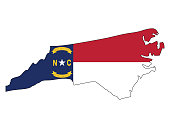 Map and Flag of North Carolina