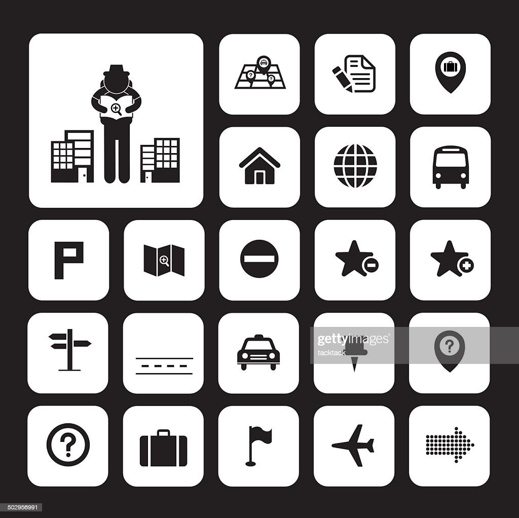 map and location icons