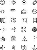 Map and Navigation Vector Line Icons 5