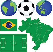 Map and soccer icons