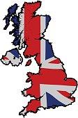 UK map black outline