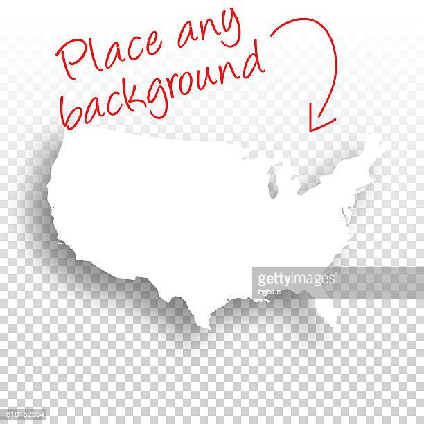 USA Map for design - Blank Background