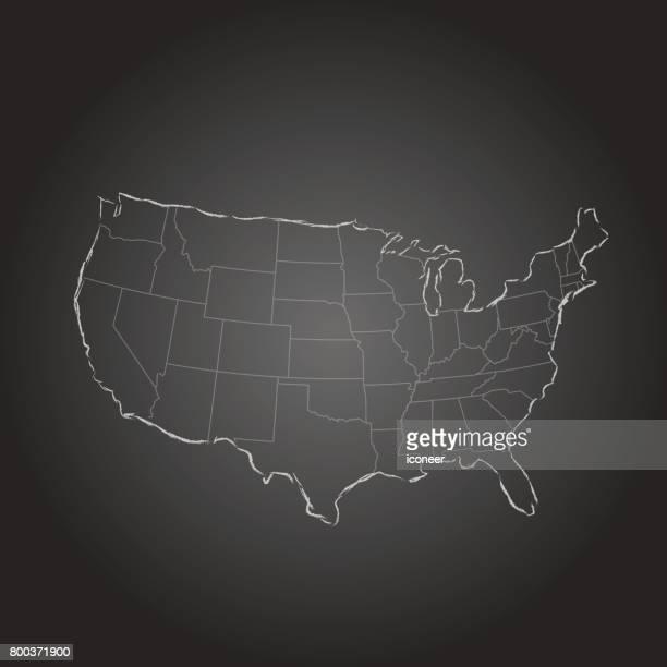 USA Karte grau gradient Hintergrund