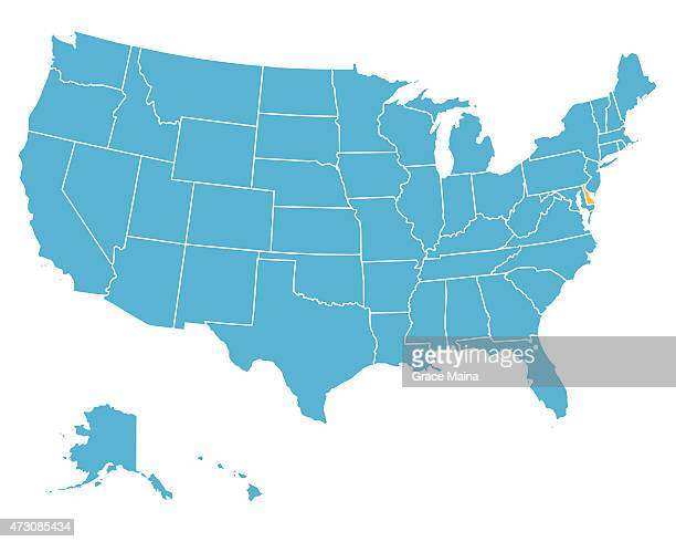 Delaware Us State Vector Art And Graphics Getty Images - Delaware on us map