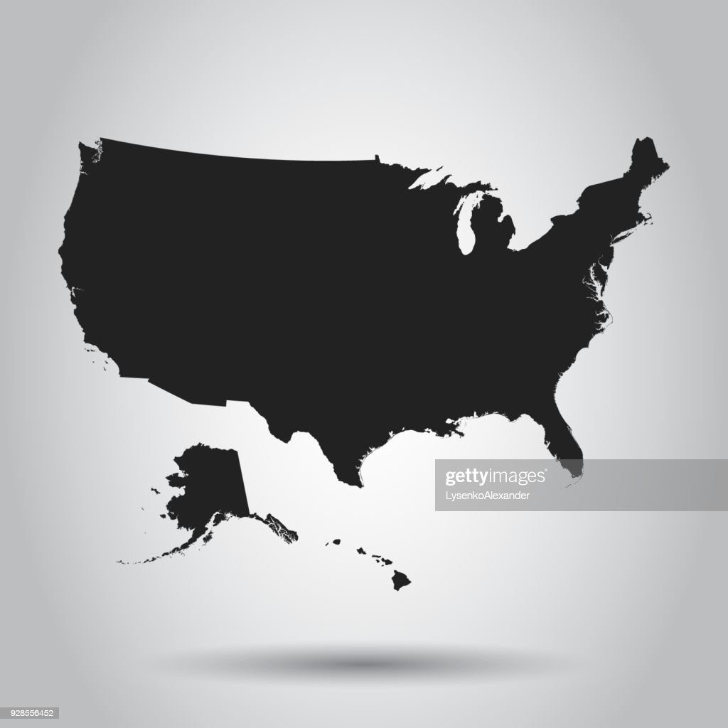 Usa Map Icon Business Cartography Concept United States Of America ...