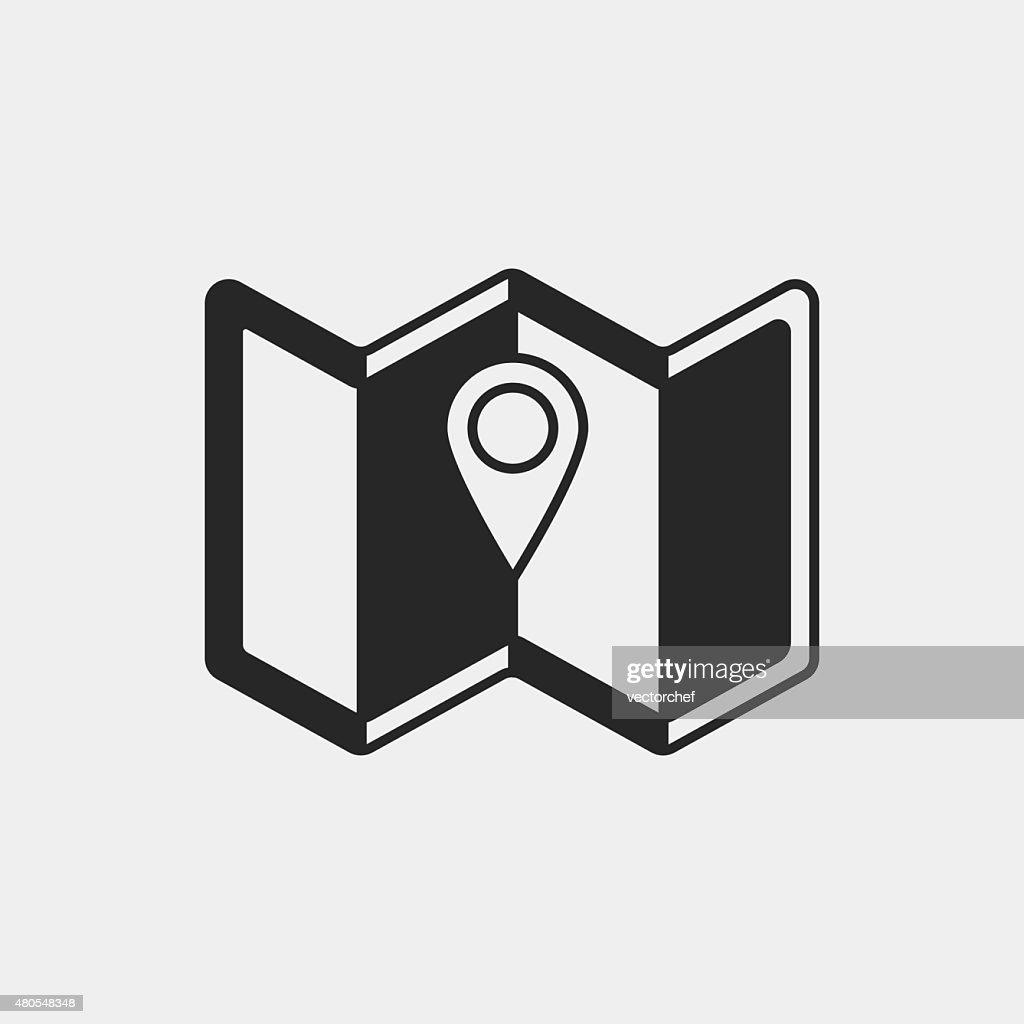 Icono de mapa : Arte vectorial