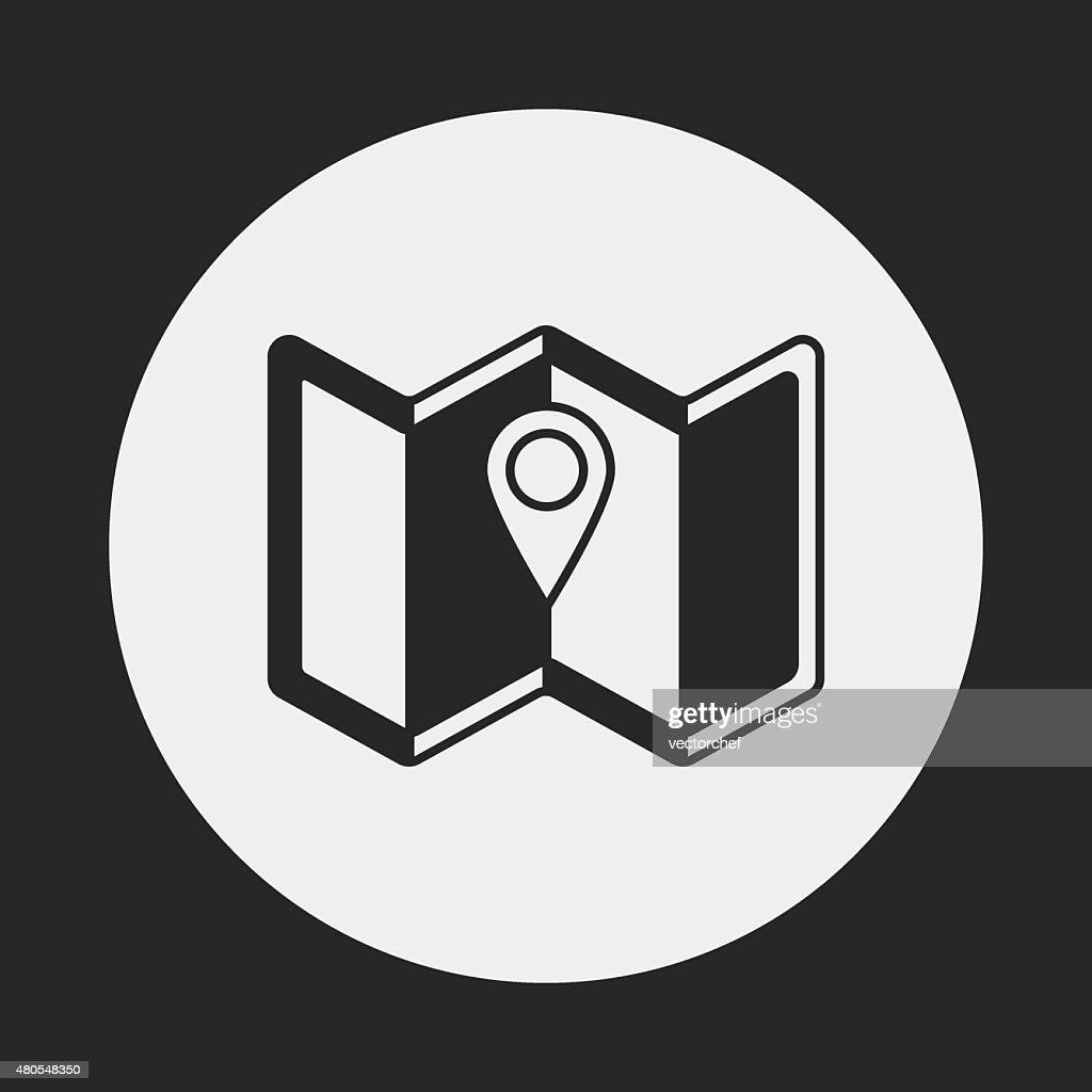 Karte, Symbol : Vektorgrafik