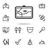 map in navigator icon. Navigation icons universal set for web and mobile