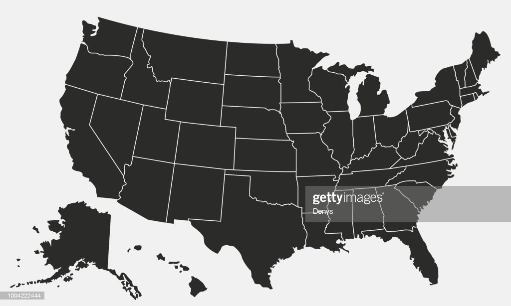 USA map isolated on white background. United States of America map. Vector template.