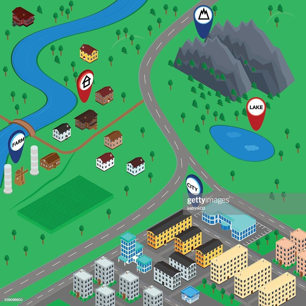 3D map landscape