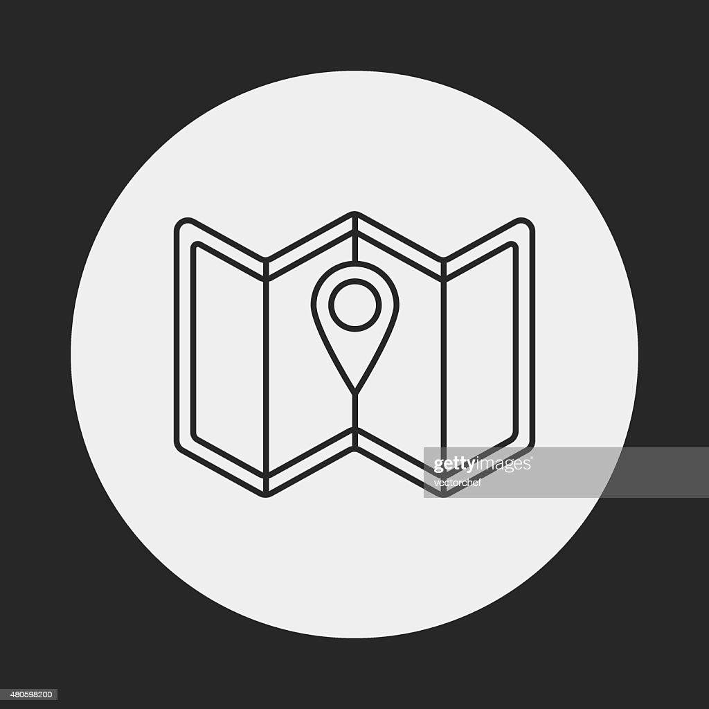 map line icon : Vector Art