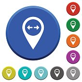 GPS map location beveled buttons