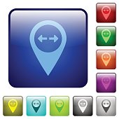 GPS map location distance color square buttons