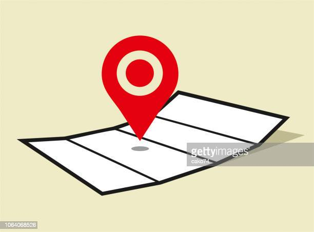 map location pointer icon - global positioning system stock illustrations