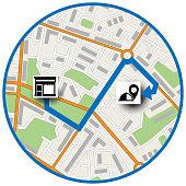 Map location scheme