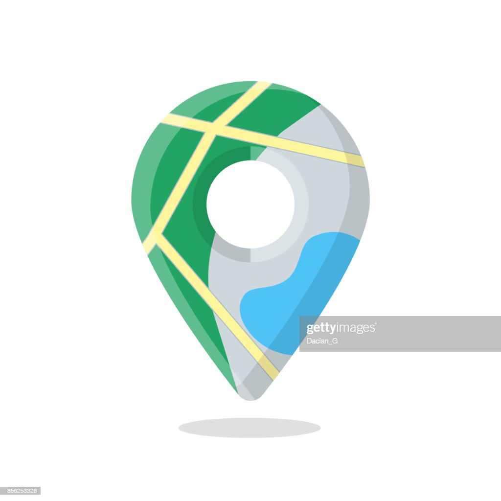Map marker pin, pointer icon