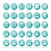 Map navigation vector iconset in flat style