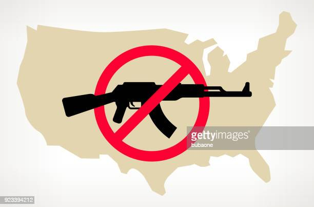 US Map No Gun Violence Vector Poster