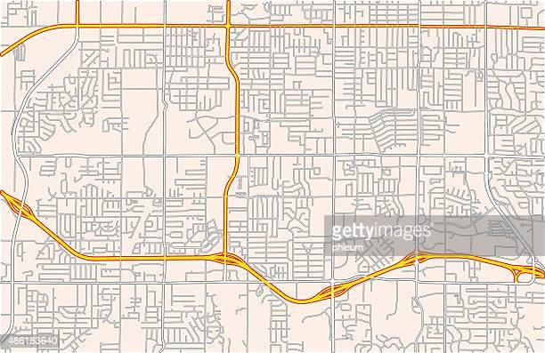 Karte von einer Vorstadt Straße Netzwerk
