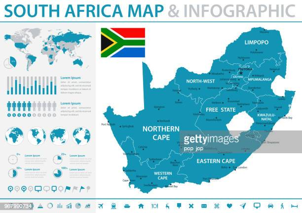map of africa - infographic vector - south africa stock illustrations