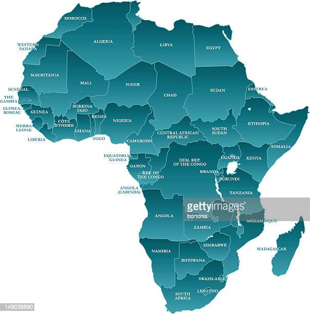 map of africa: labelled - labeling stock illustrations, clip art, cartoons, & icons