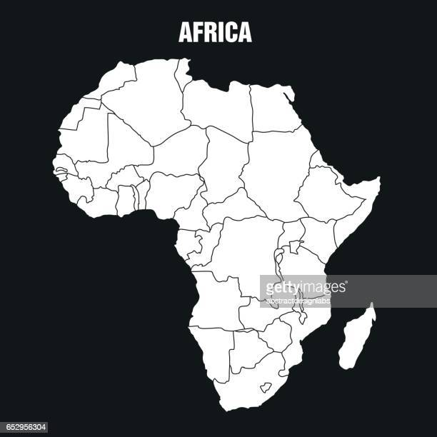 map of african continent - illustration - ethiopia stock illustrations, clip art, cartoons, & icons
