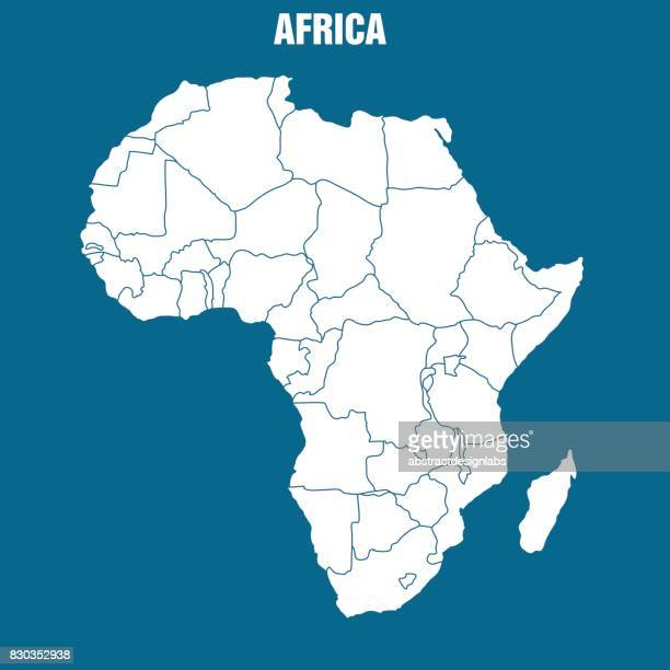 map of african continent - illustration - eswatini stock illustrations, clip art, cartoons, & icons