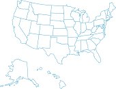USA Map Of All Fifty States