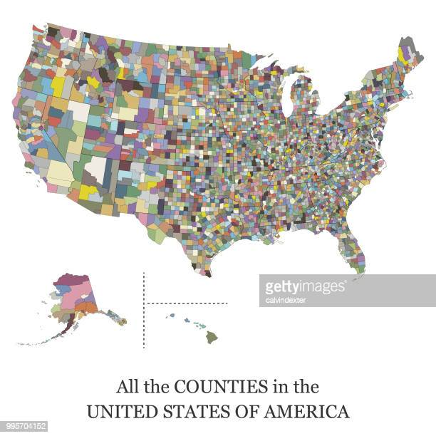 map of all the counties in the usa - us president stock illustrations, clip art, cartoons, & icons