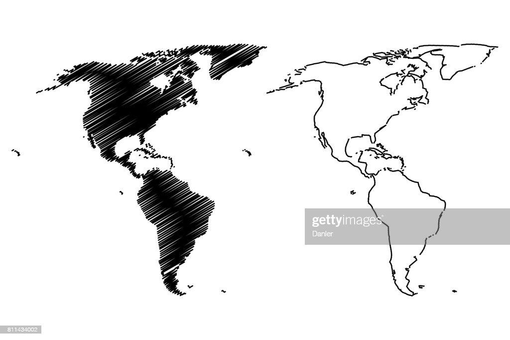 Map of America vector illustration,