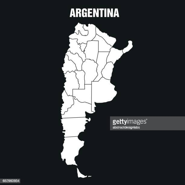 Map of Argentina - Illustration