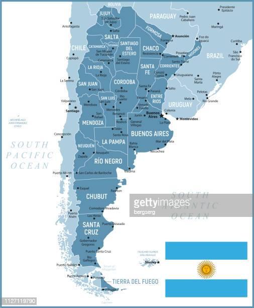 map of argentina. vector illustration - la plata argentina stock illustrations