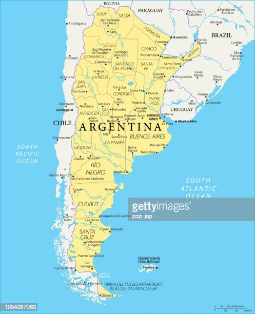 Map of Argentina - Vector
