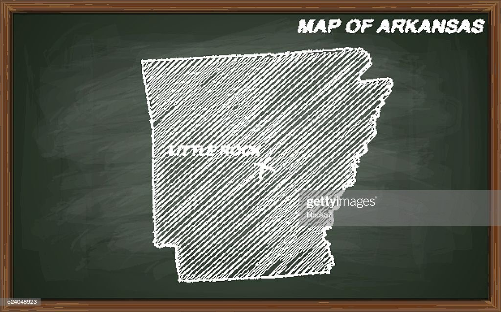 map of Arkansas