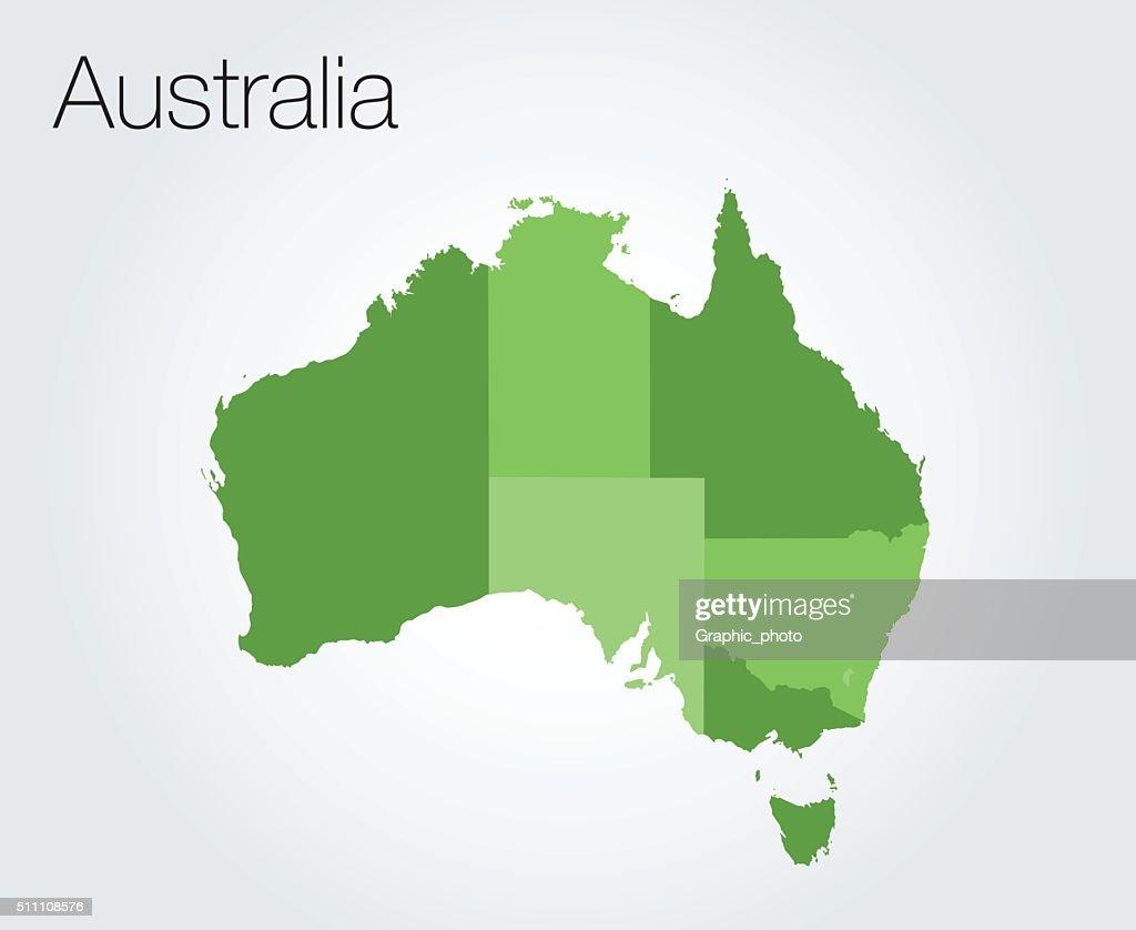 Map of Australia background