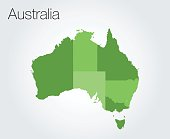 Map of Australia background