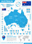 Map of Australia - Infographic Vector
