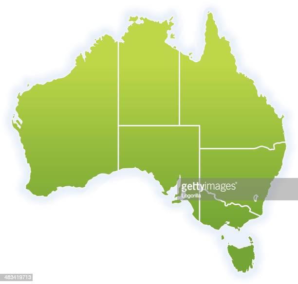 map of australia - australian capital territory stock illustrations