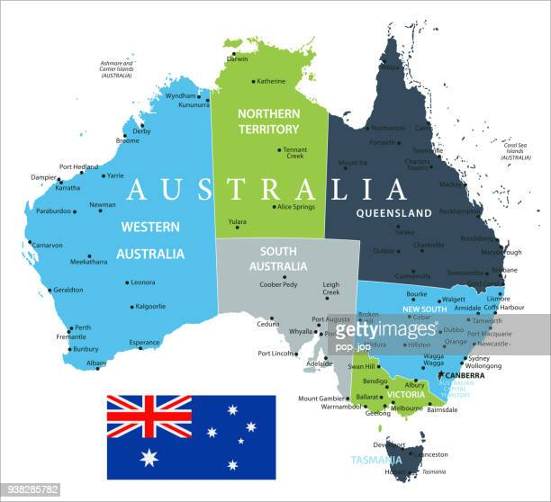 Map of Australia - Vector