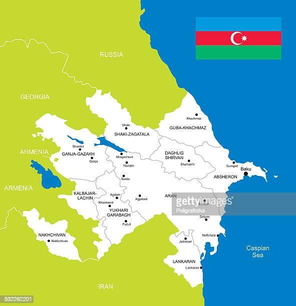 map of azerbaijan - azerbaijan stock illustrations