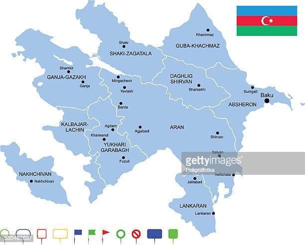 illustrazioni stock, clip art, cartoni animati e icone di tendenza di mappa dell'azerbaigian - azerbaigian