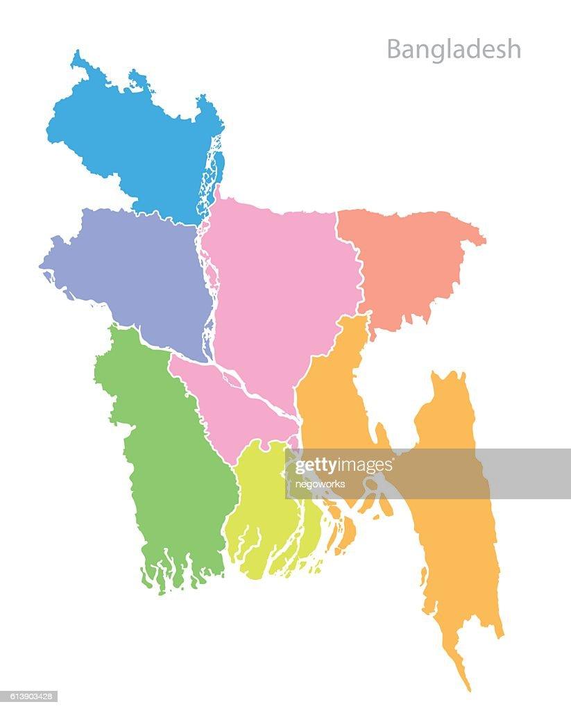 Map of Bangladesh.