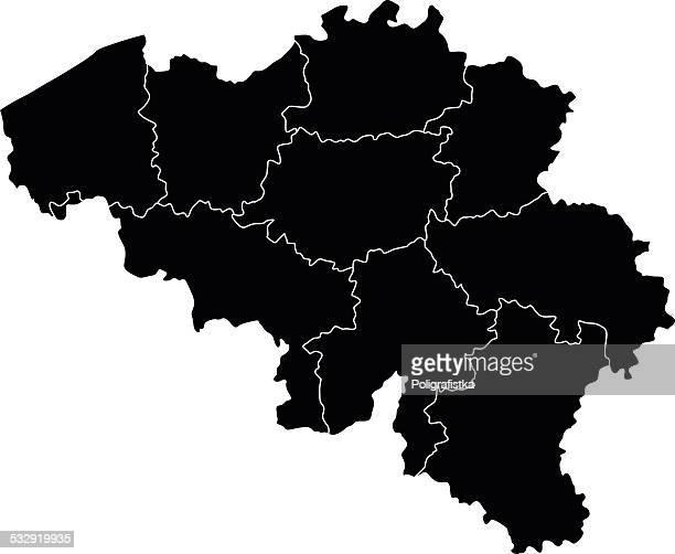 map of belgium - flanders belgium stock illustrations