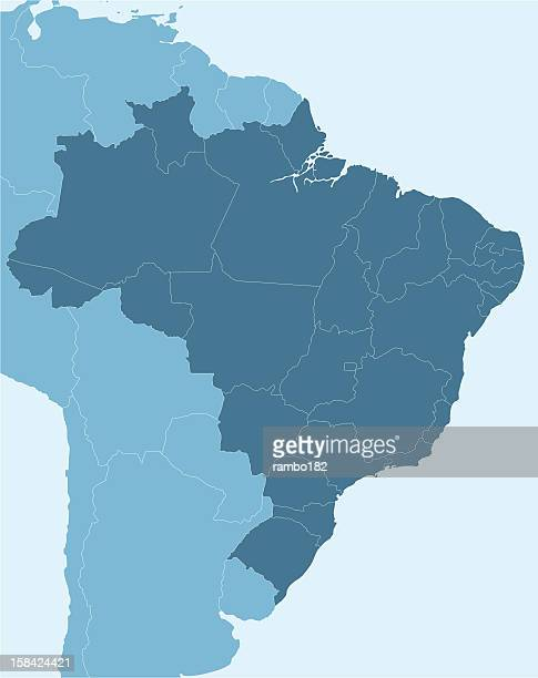 Map of Brazil and portion of South America