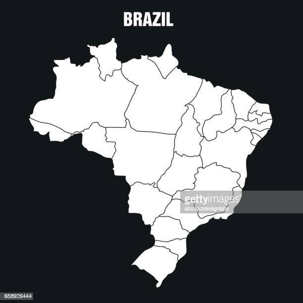 karte von brasilien - illustration - samba stock-grafiken, -clipart, -cartoons und -symbole