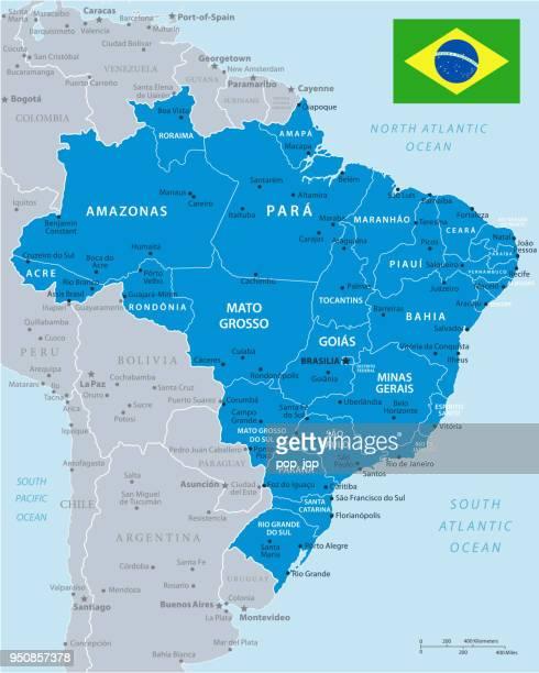ブラジル - インフォ グラフィック ベクトルの地図 - マナウス点のイラスト素材/クリップアート素材/マンガ素材/アイコン素材