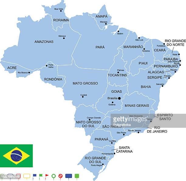 マップのブラジル - ミナスジェライス州点のイラスト素材/クリップアート素材/マンガ素材/アイコン素材